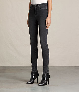 Womens Grace Jeans (Washed Black) - Image 3