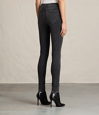 Womens Grace Jeans (Washed Black) - Image 4
