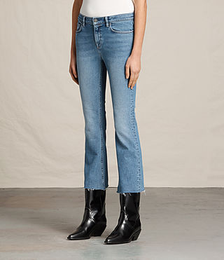 Damen Zoe Cropped Bootcut Jeans (LIGHT INDIGO BLUE) - product_image_alt_text_3