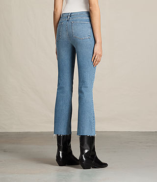 Damen Zoe Cropped Bootcut Jeans (LIGHT INDIGO BLUE) - product_image_alt_text_4