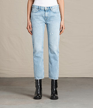 Women's Charlie Slim Cropped Jeans (LIGHT INDIGO BLUE)