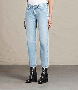 Women's Charlie Slim Cropped Jeans (LIGHT INDIGO BLUE) - product_image_alt_text_2