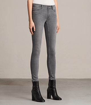 Womens Mast Jeans (Washed Grey) - Image 4