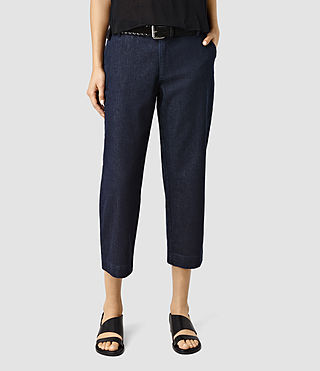 Womens Callie Denim Culotte (DARK INDIGO BLUE)