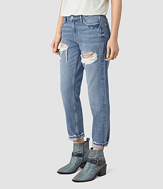 Mujer April Jeans (Washed Indigo) - product_image_alt_text_1