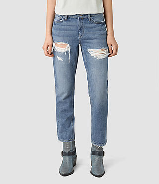 Mujer April Jeans (Washed Indigo) - product_image_alt_text_2