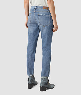 Women's April Jeans (Washed Indigo) - product_image_alt_text_3