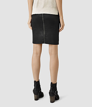 Womens Metal Pencil Skirt (Black) - product_image_alt_text_4