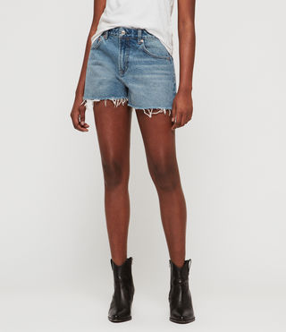 Lexi High-Rise Denim Shorts