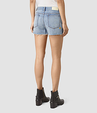 Womens Kate Distressed Shorts (LIGHT INDIGO BLUE) - product_image_alt_text_5