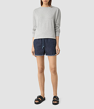 Womens Sue Sports Shorts (DARK INDIGO BLUE)