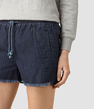 Femmes Sue Sports Shorts (DARK INDIGO BLUE) - product_image_alt_text_2