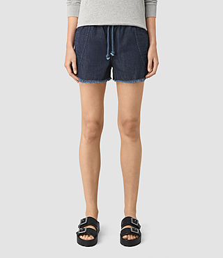 Femmes Sue Sports Shorts (DARK INDIGO BLUE) - product_image_alt_text_3