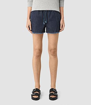 Mujer Sue Sports Shorts (DARK INDIGO BLUE) - product_image_alt_text_3