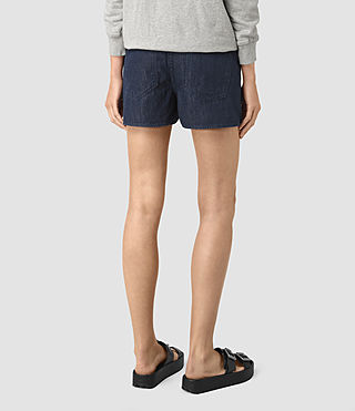 Femmes Sue Sports Shorts (DARK INDIGO BLUE) - product_image_alt_text_4