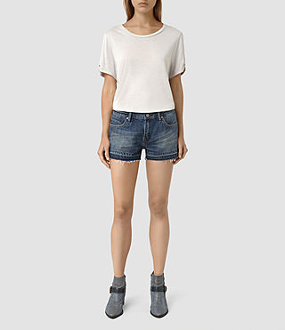 Womens Kim Shorts (DARK INDIGO BLUE)
