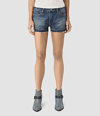Damen Kim Shorts (DARK INDIGO BLUE) - product_image_alt_text_2