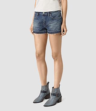 Damen Kim Shorts (DARK INDIGO BLUE) - product_image_alt_text_3