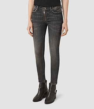 Womens Track Ankle Jeans (Vintage Grey)