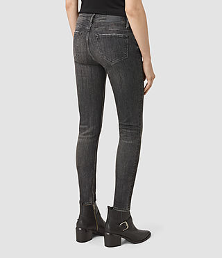 Womens Track Ankle Jeans (Vintage Grey) - product_image_alt_text_3