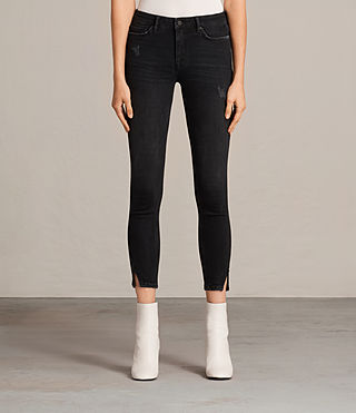 Women's Mast Twisted Jeans (Washed Black) - Image 1