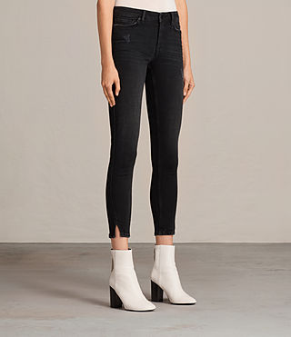 Women's Mast Twisted Jeans (Washed Black) - Image 4
