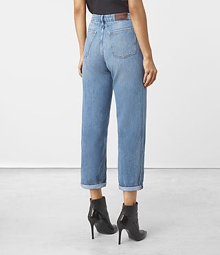 Femmes Nat High Waist Boyfriend Jeans (LIGHT INDIGO BLUE) - product_image_alt_text_3