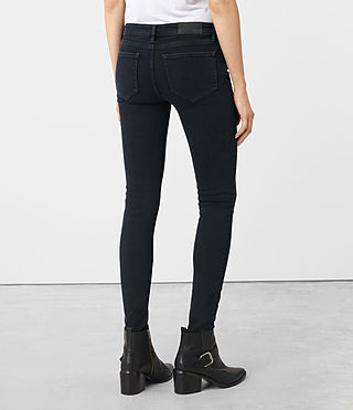 Women's Mast Knee Destroy Jeans (DARK INDIGO BLUE) - product_image_alt_text_3