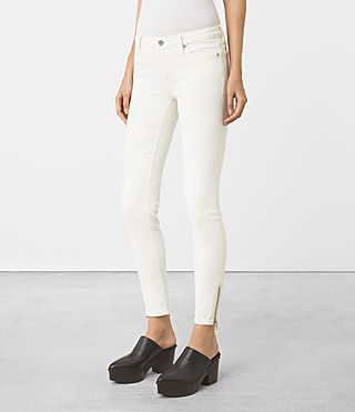 Mujer Mast Ankle Zip Jeans (Off White) - product_image_alt_text_2