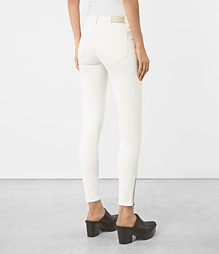 Mujer Mast Ankle Zip Jeans (Off White) - product_image_alt_text_3
