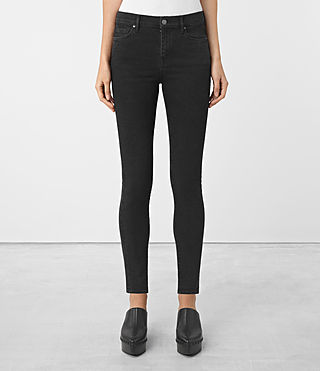 Womens Eve Jeans (Washed Black)