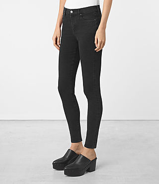 Womens Eve Jeans (Washed Black) - product_image_alt_text_2