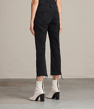 Donne Jeans Serene Cropped Kick (Washed Black) - product_image_alt_text_2