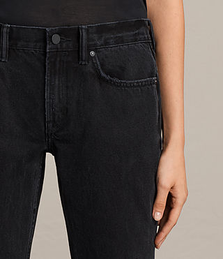 Donne Jeans Serene Cropped Kick (Washed Black) - product_image_alt_text_3