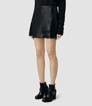 Womens Mini Lucille Skirt (Black) - product_image_alt_text_2