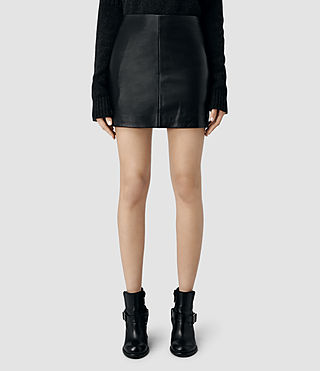 Womens Mini Lucille Skirt (Black) - product_image_alt_text_3