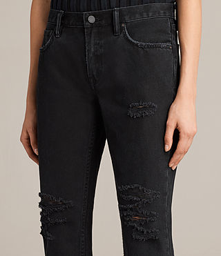 Women's Muse Slim Destroys Jeans (Washed Black) - product_image_alt_text_2