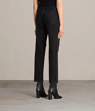 Femmes Muse Slim Destroys Jeans (Washed Black) - product_image_alt_text_3