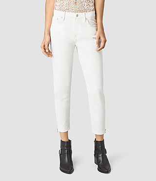 Womens Jasper Denim Jeans (Off White) - product_image_alt_text_1