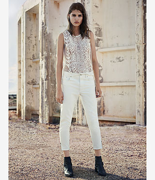 Women's Jasper Denim Jeans (Off White) - product_image_alt_text_4