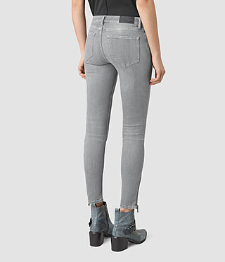 Womens Mast Ankle Zip Jeans (Pale Grey) - product_image_alt_text_3