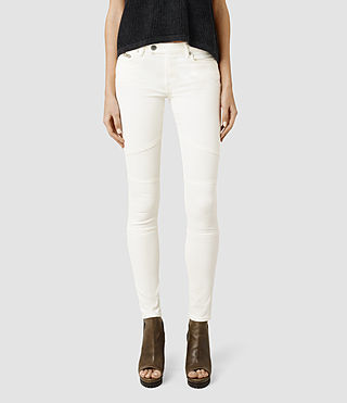 Womens Biker Jeans/Off White (Off White)