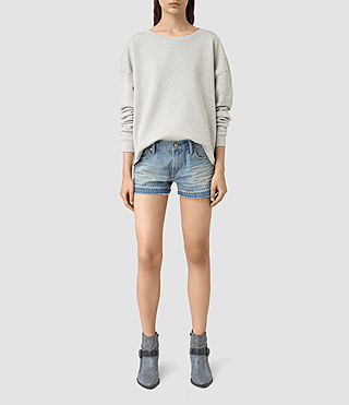 Donne Kim Shorts (LIGHT INDIGO BLUE)