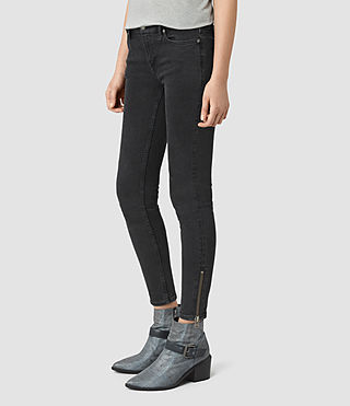 Women's Mast Ankle Zip Jeans (Washed Black) - product_image_alt_text_2