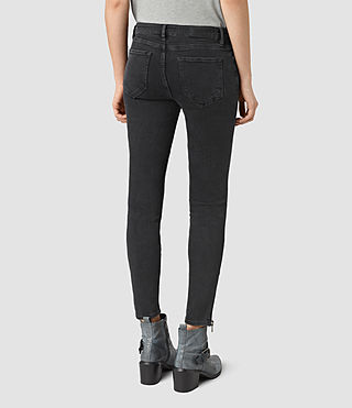 Women's Mast Ankle Zip Jeans (Washed Black) - product_image_alt_text_3