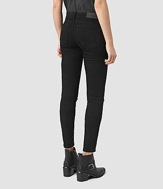 Womens Grace Slashed Jeans (Jet Black) - product_image_alt_text_3
