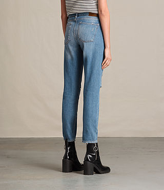 Donne Jeans Slit Boyfriend (LIGHT INDIGO BLUE) - product_image_alt_text_4