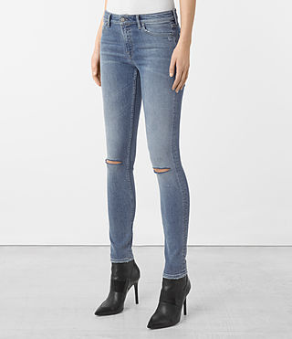 Femmes Jean Mast Slashed (Indigo Blue) - product_image_alt_text_2