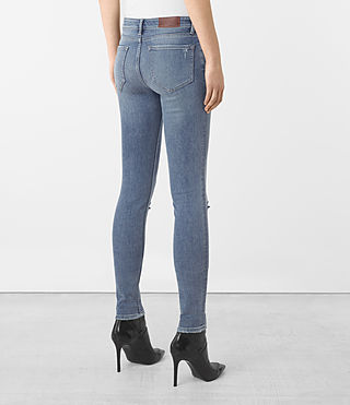 Femmes Jean Mast Slashed (Indigo Blue) - product_image_alt_text_3
