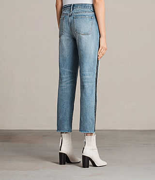 Femmes Boys Stripe Jeans (LIGHT INDIGO BLUE) - product_image_alt_text_3